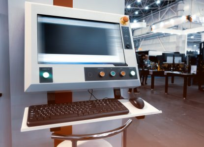 Computer control center for laser metal cutting machine