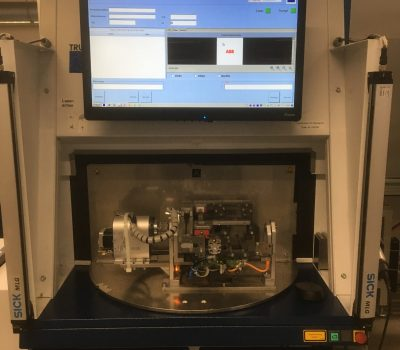One of the first Laser Interface version integrated on a Trumpf VWS800R workstation -Communication with SAP for all variable data  -Generating on the fly from existing laser files with picture variables correct marking data -Controlling product locking and marking -Integration of hand scanner for dataflow